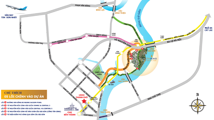 Bản đồ vị trí Vinhomes Central Park