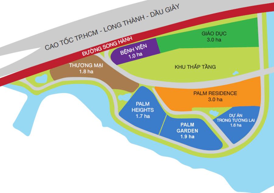 Quy hoạch dự án Palm Garden
